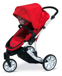 britax b-scene stroller in red
