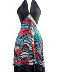 diane kroe reversible resort dress halter style