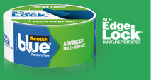 3m scotchblue painters tape edge-lock