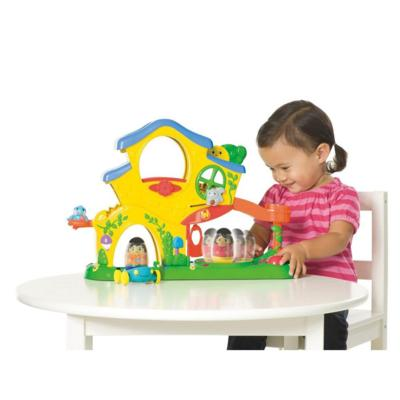 weebles turn n tumble home playset in use