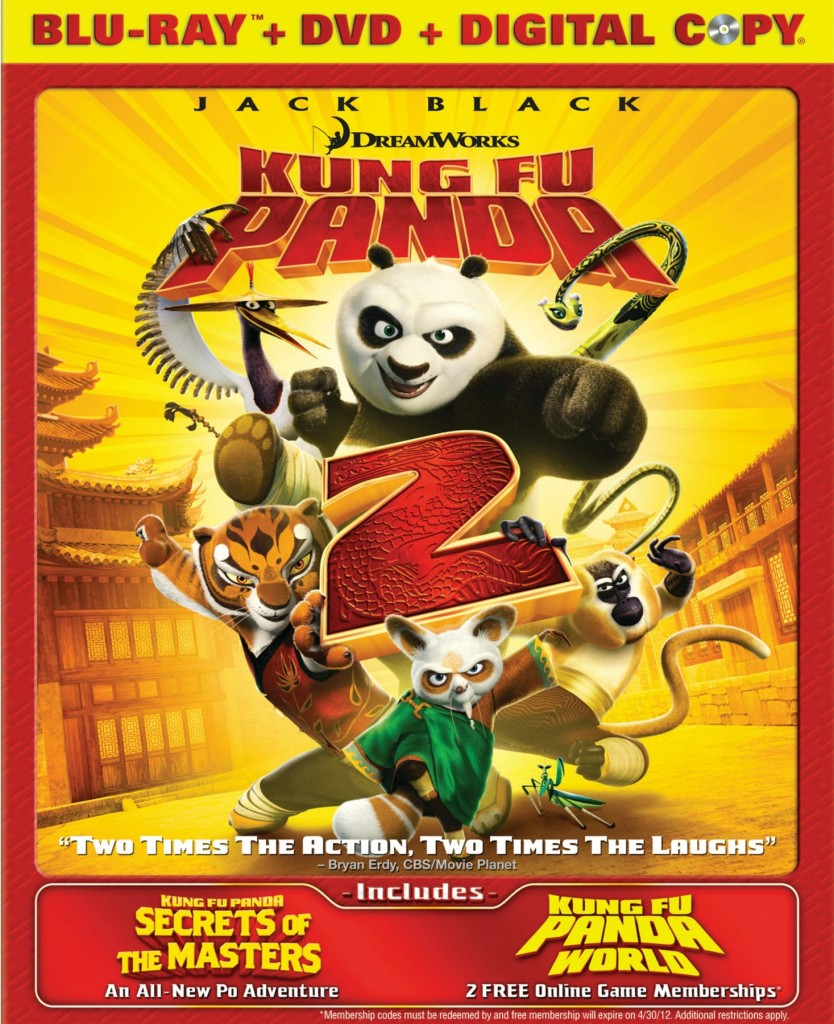 kung fu panda 2 blu-ray box art