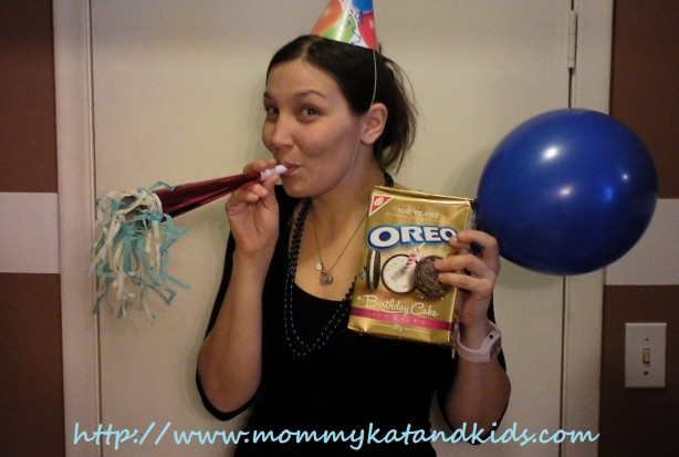mommy kat with oreo party goodies