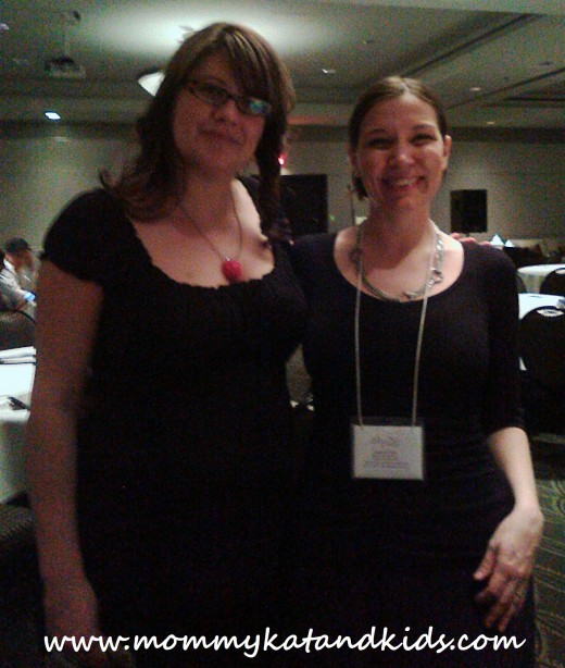 me and felicia at blogwest conference