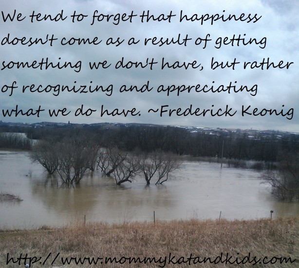 happiness quote and photo of qu'appelle valley