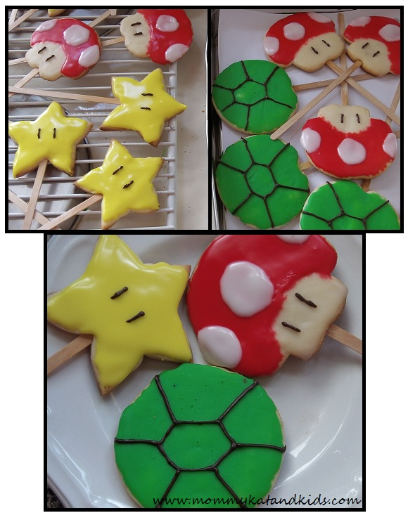 super mario sugar cookies
