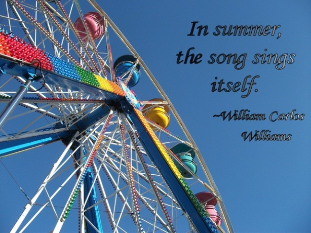 ferris wheel and quote about summer