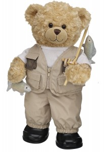 build-a-bear Fishing Pro Curly Teddy