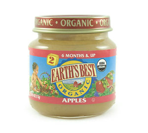 earth's best organic apples baby food