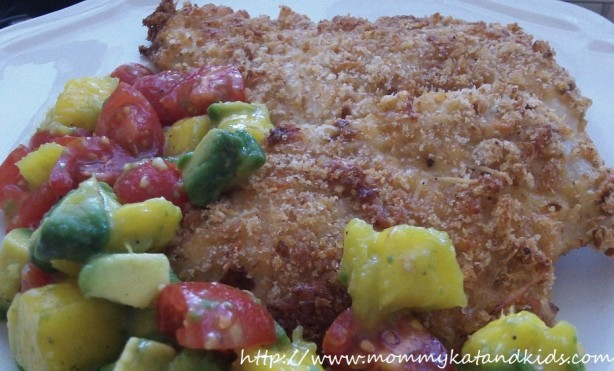 asiago spicy ranch chicken avocado mango salsa