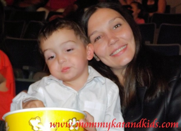 mom and boy at quidam show