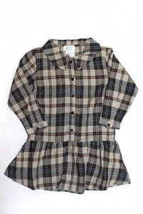 cdec black plaid tunic dress