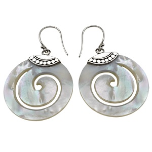 jolica swirl shell earrings