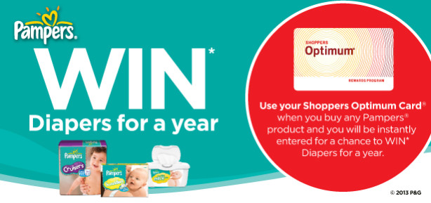 shoppers drug mart pampers diaper contest