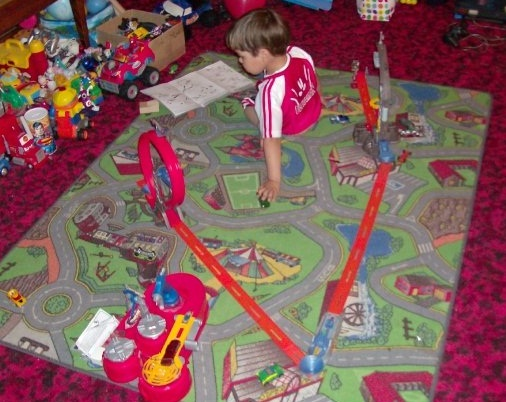 zack and hot wheels tracks