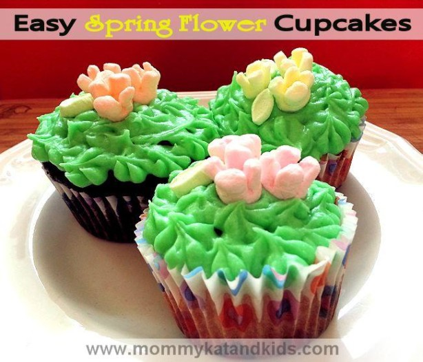 Easy Spring Flower Cupcake Recipe
