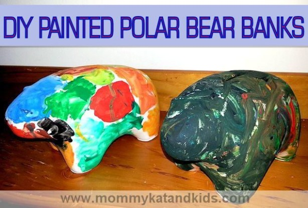diy painted polar bear bank