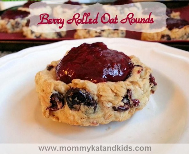 easy breakfast berry rolled oat rounds recipe