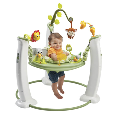 evenflo exersaucer jump learn safari friends