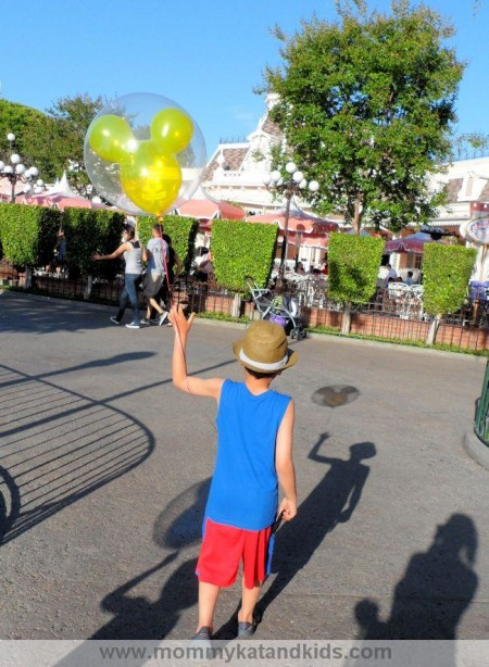 zack with mickey balloon