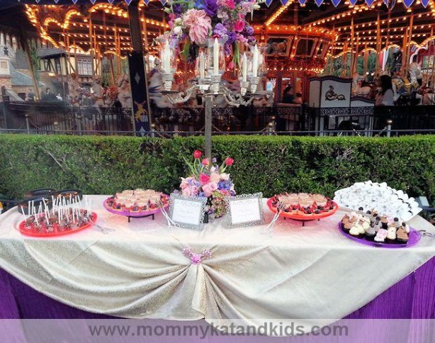 disneyland dessert table