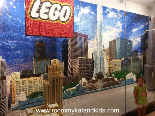 lego store chicago skyline
