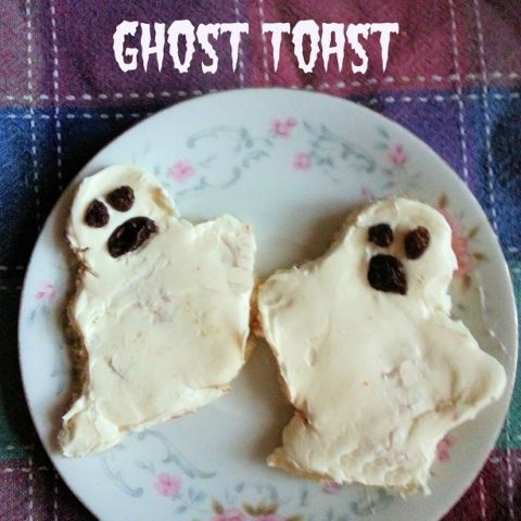 halloween ghost toast snack recipe