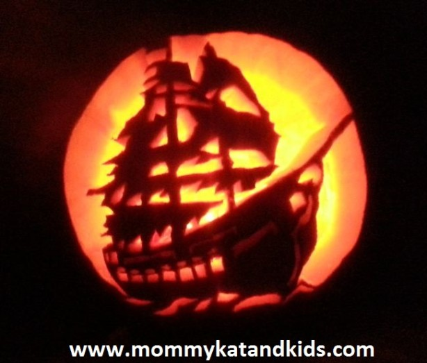 halloween pumpkin black pearl pirate caribbean