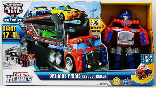 optimus prime rescue trailer