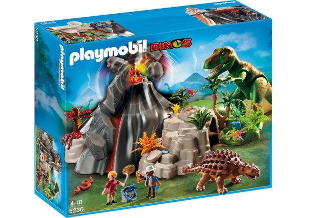 playmobil dino volcano set
