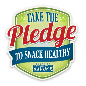 taste of nature take the pledge logo