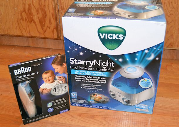 vicks starry night humidifier braun ear thermometer