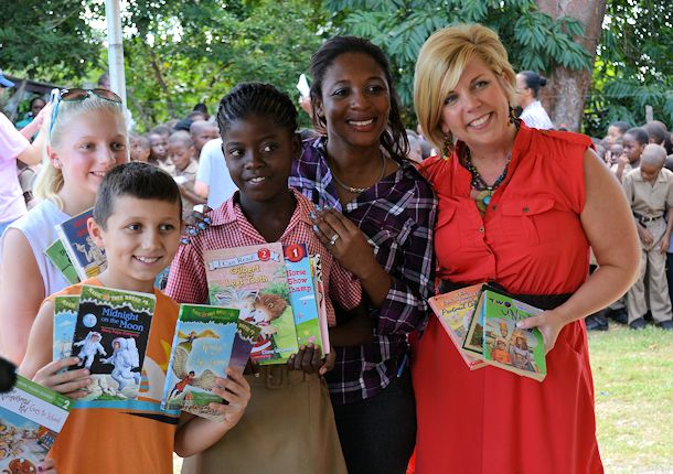 Literacy and educational support is a huge part of the work that Sandals Foundation does.