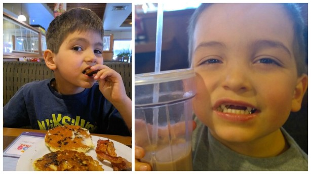 boys eating at denny's canada
