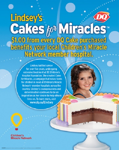 dairy queen lindsey's cakes for miracles