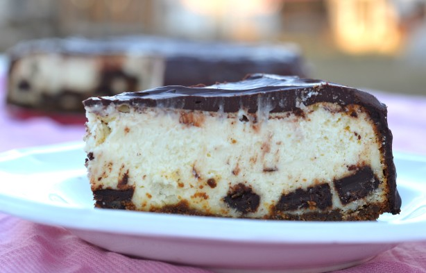 ginger chocolate chunk cheesecake