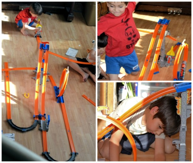 hot wheels track building