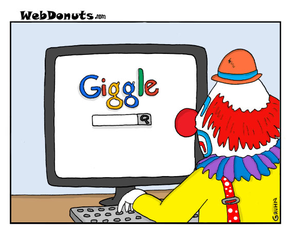 giggle cartoon webdonuts