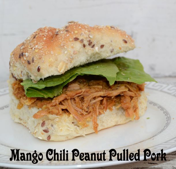 mango chili peanut pulled pork