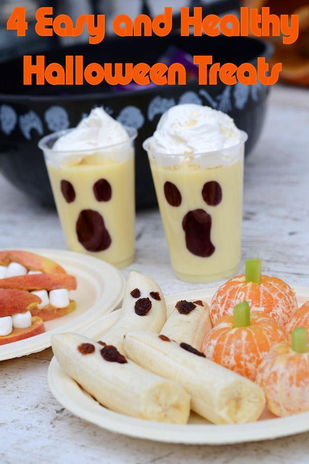 Four Easy and Healthy Halloween Snacks for Kids