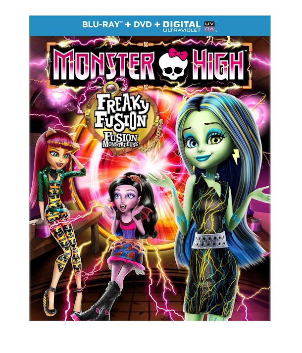 monster high freaky fusion blu-ray como pack