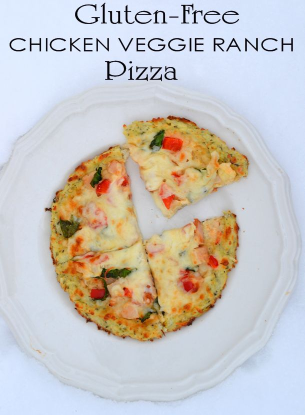 Gluten-Free Chicken Veggie Ranch Pizza Recipe