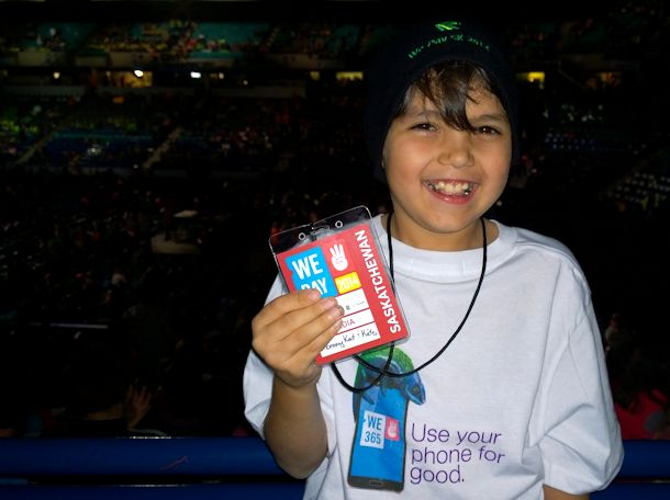zack at we day press pass