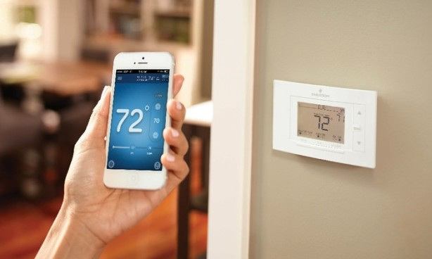 sensi wi-fi thermostat on wall