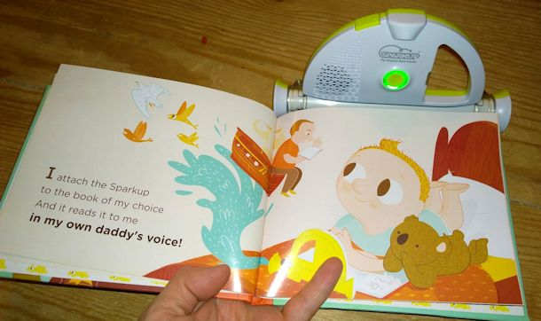 sparkup magical book reader in use
