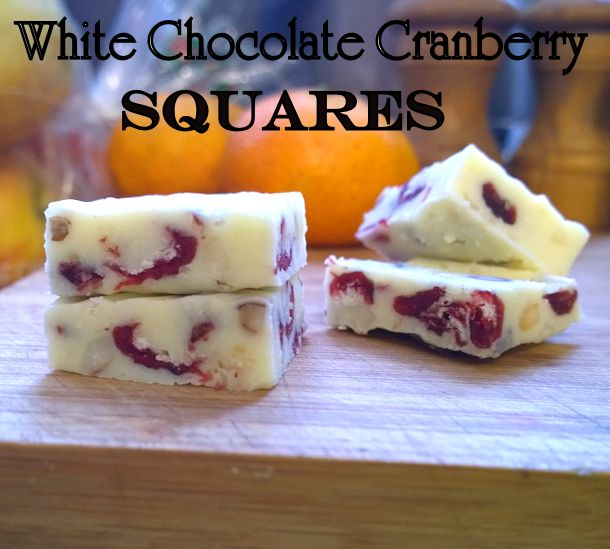 white chocolate cranberry squares