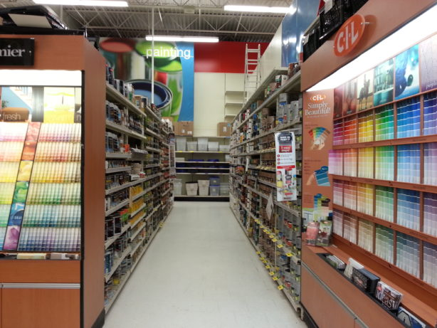 canadian tire paint section