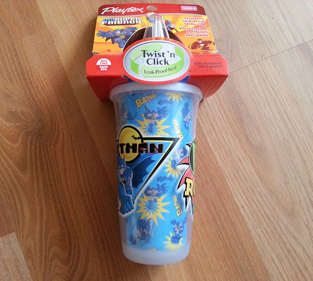 playtex playtime batman cup