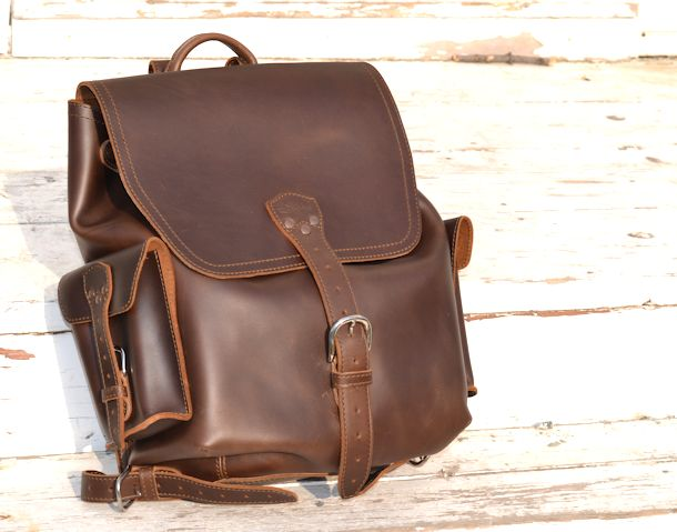 saddleback leather dark coffee brown backpack
