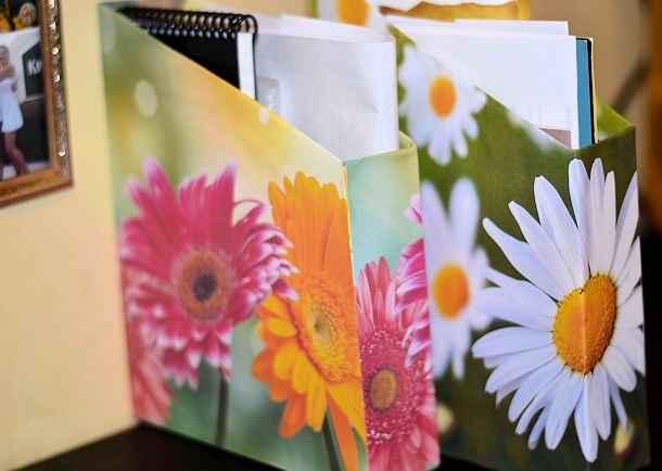 file boxes diy printed paper