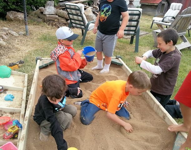 moon rock sandbox dig